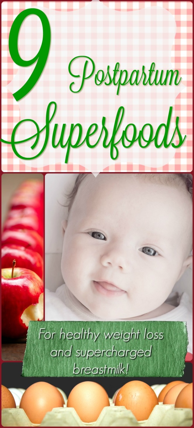 postpartum superfoods for nursing and weight loss