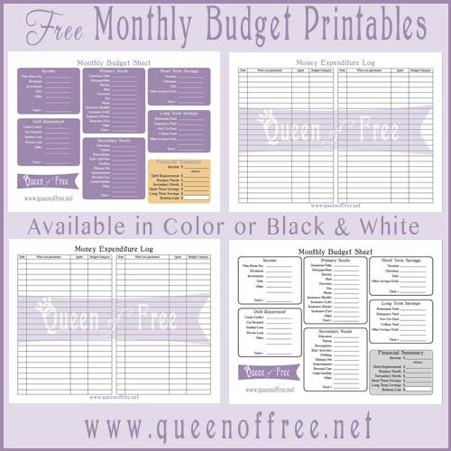 creating a family budget free printables garbahj